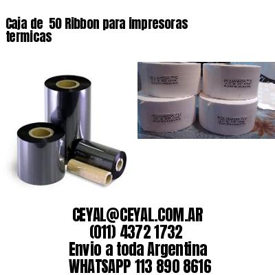 Caja de  50 Ribbon para impresoras termicas