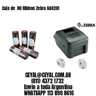 Caja de  80 Ribbon Zebra Gd420t