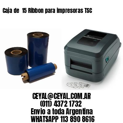 Caja de  15 Ribbon para impresoras TSC