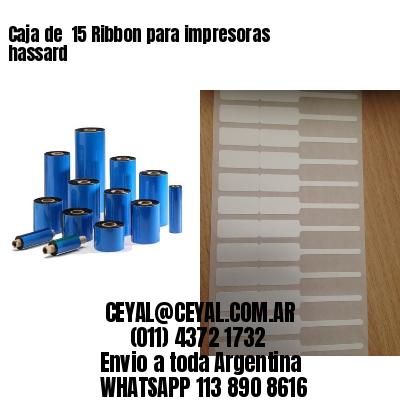 Caja de  15 Ribbon para impresoras hassard