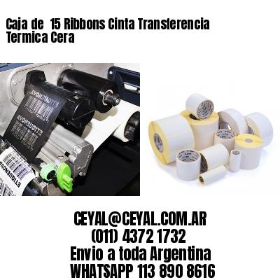 Caja de  15 Ribbons Cinta Transferencia Termica Cera