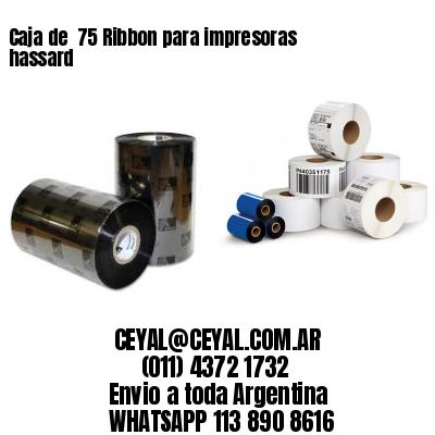 Caja de  75 Ribbon para impresoras hassard