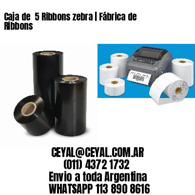 Caja de  5 Ribbons zebra | Fábrica de Ribbons