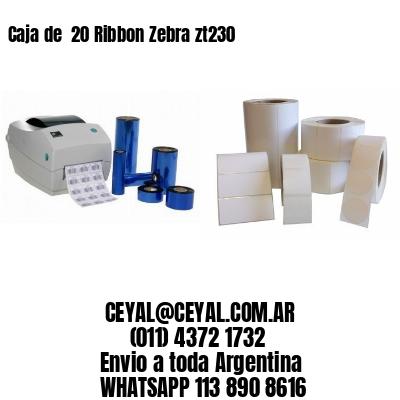 Caja de  20 Ribbon Zebra zt230