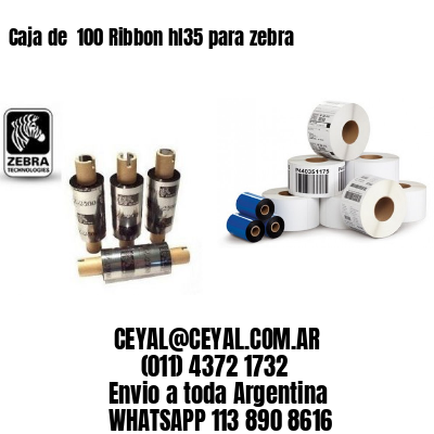 Caja de  100 Ribbon hl35 para zebra