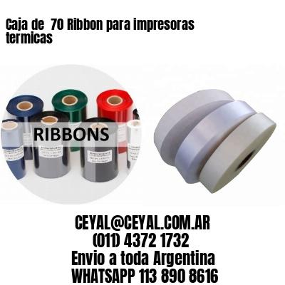 Caja de  70 Ribbon para impresoras termicas