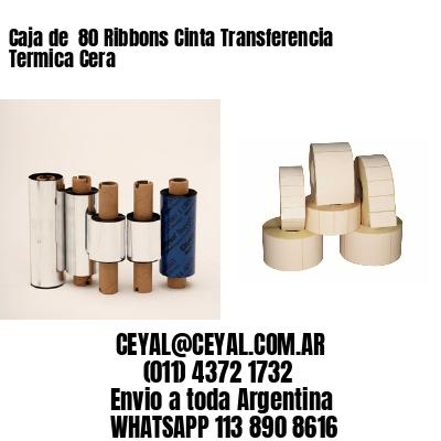 Caja de  80 Ribbons Cinta Transferencia Termica Cera