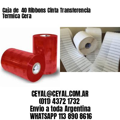 Caja de  40 Ribbons Cinta Transferencia Termica Cera