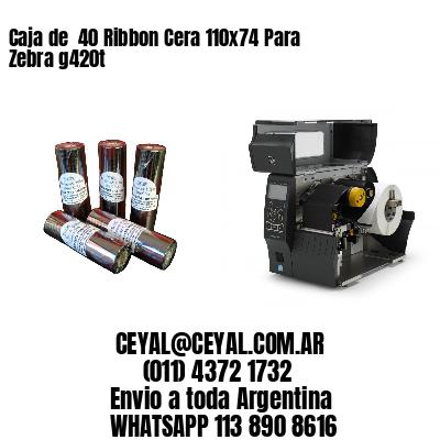 Caja de  40 Ribbon Cera 110x74 Para Zebra g420t