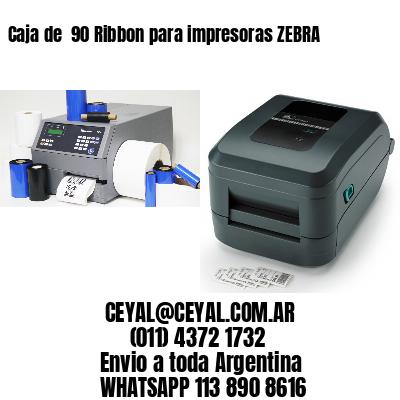 Caja de  90 Ribbon para impresoras ZEBRA