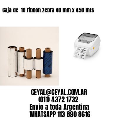 Caja de  10 ribbon zebra 40 mm x 450 mts